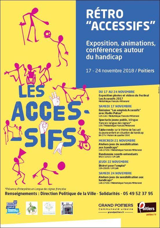 Programme des accessifs du 17 au 24 novembre 2018 à Poitiers
